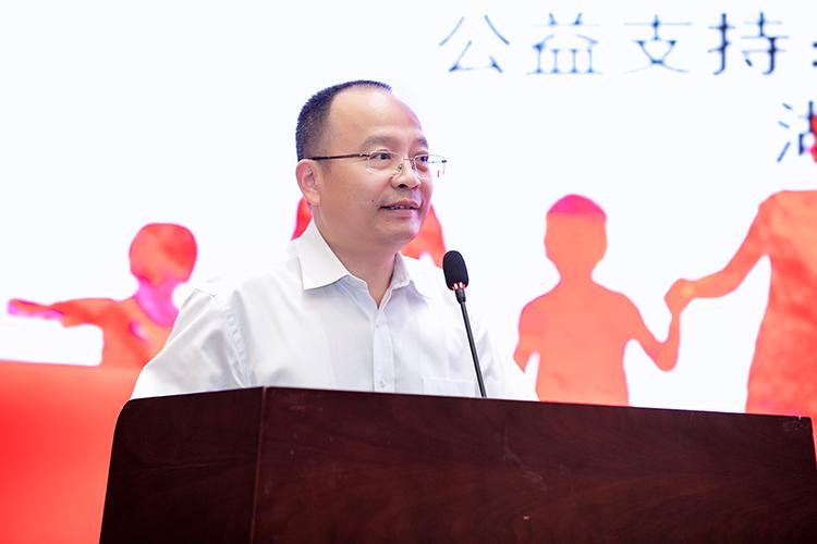 中国儿童少年基金会秘书长朱锡生致辞.jpg